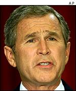 President Bush was in favour of the ban AP