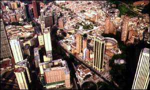 The Colombian capital, Bogota