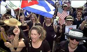 Anti-Castro Cuban exiles in Miami