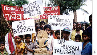 Buddhists protest in India