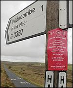 Sign on Dartmoor