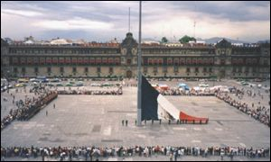 Mexico City's main square, the Zocalo