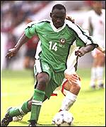 Daniel Amokachi in World Cup duty in '98
