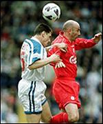 McAllister and Rideout battle for possession