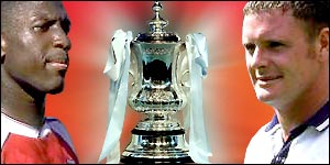 BBC Sport Online looks back at previous Tottenham v Arsenal FA Cup semi-final games