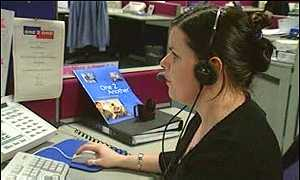 Worker at a One2One call centre