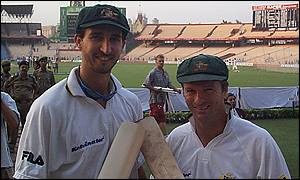 Jason Gillespie and Steve Waugh