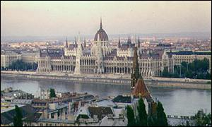The Hungarian parliament overlooking the River Danube