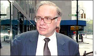 Warren Buffett pictured in 1991