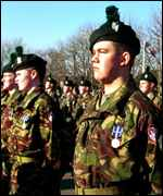 UK troops on parade PA