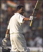 Laxman's hundred was his first in Tests on home soil
