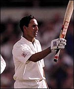 Laxman scores a hundred against Australia at the SCG in 1999