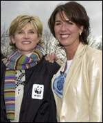 Anthea Turner and Claire Sweeney