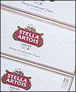 Stella Artois boxes of beer