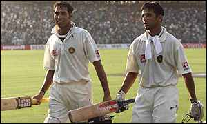 Double trouble, Laxman and Dravid walk off after batting all day