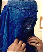 Afghan veiled woman