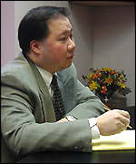 Kent Lou, branch manager of All-Tech Direct centre in Chinatown, New York City