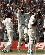 Harbhajan Singh was India's match-winner in only his 10th Test appearance