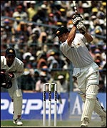 Michael Slater shared an opening stand of 74 with Matthew Hayden