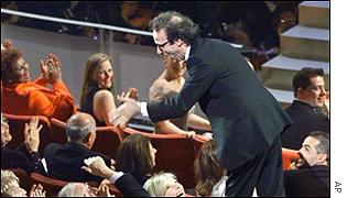 Roberto Benigni at the Oscars in 1999