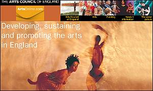 Arts Council of England website