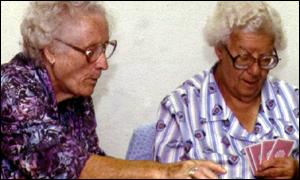 Pensioners playing cards