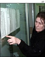 Relatives check passenger lists in Moscow