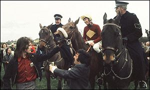 Red Rum wins the 1973 Grand National
