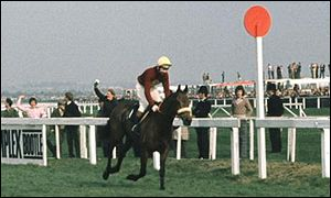 Red Rum wins the 1974 Grand National