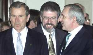 President Bush met politicians at the White House