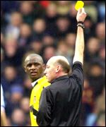 Patrick Vieira is booked