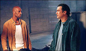 Seagal (right) stars with DMX in his first movie for four years