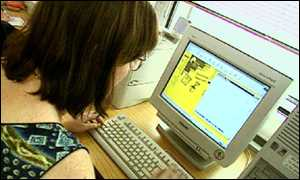 woman surfing the net