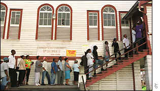 Polling station in Guyana
