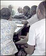 Learners sit the test
