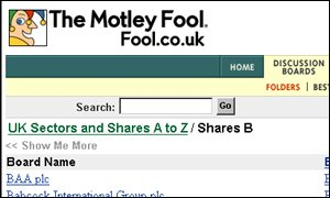 Motley Fool discussion groups Motely Fool