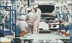 Mitsubishi car factory in Japan