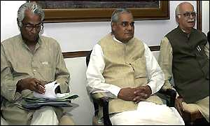 Vajpayee with Fernandes and Advani