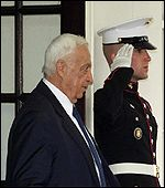 Ariel Sharon leaves White House