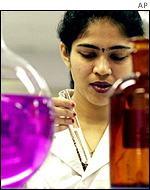 A scientist at Cipla Research in India