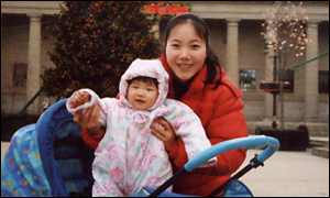 mo zhengfang and baby