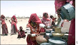 Women at well in Rajasthan, India