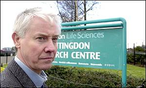 Brian Cass, managing director,  Huntingdon Life Sciences