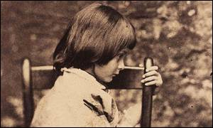 The young Alice Liddell poses for Lewis Carroll
