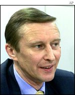 Chief of Russia's Security Council Sergei Ivanov