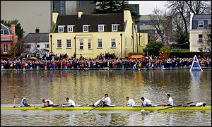 Cambridge cross the finising line first at Chiswick