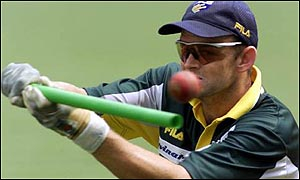 Adam Gilchrist, Australia's vice-captain and wicketkeeper
