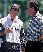 Trevor Hohns and Ricky Ponting