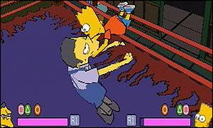 Bart Simpson in the wrestling ring