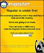Napster screen grab